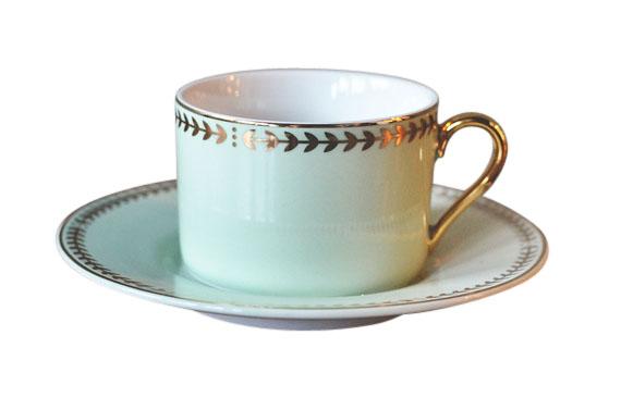 Ungdommelig Mint Trend Design Kopp med skål - Dorothea.no XO-51